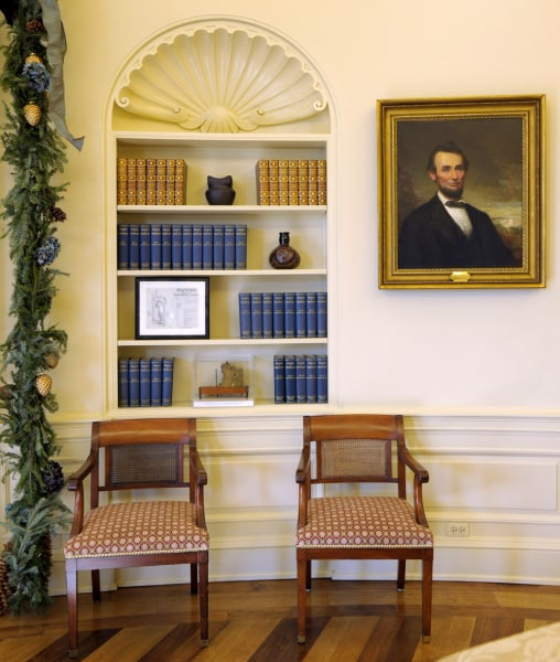 obama adds his style to oval office decor - today