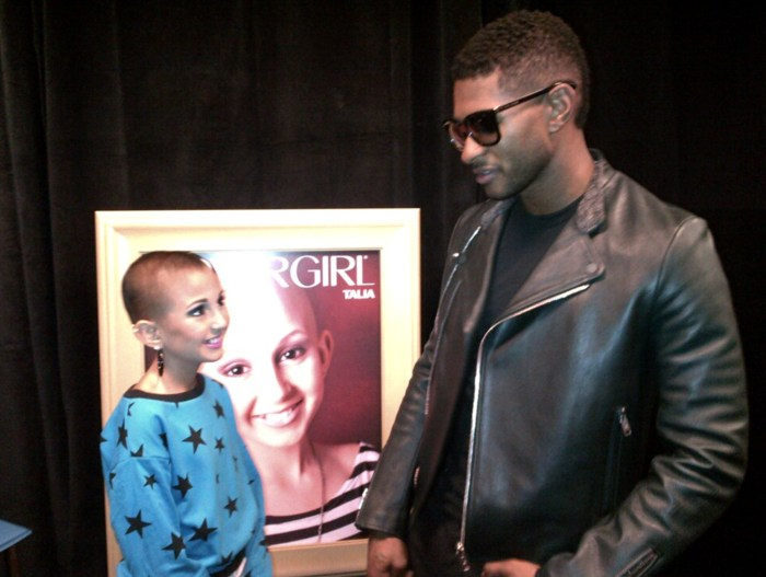 Image: Talia Castellano, teenager with cancer who became a CoverGirl model meets Usher