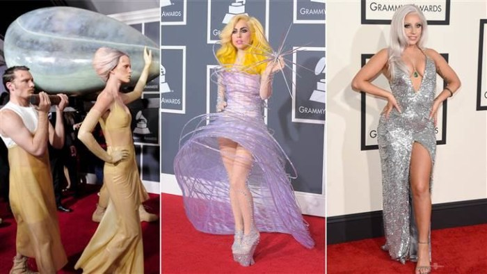 Grammys 2015 Fashion Trends Lady Gaga Nicki Minaj Tone Down Their Looks