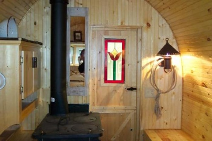 Live in this 70 square foot wagon from the 1800s TODAYcom