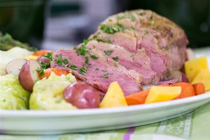 Make a classic corned beef and cabbage, gur cake for St. Patrick's Day