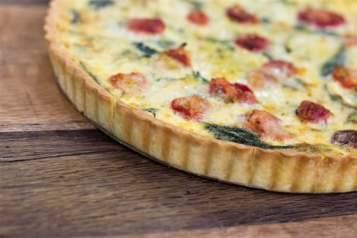 Vegetable and Fine Herb Quiche