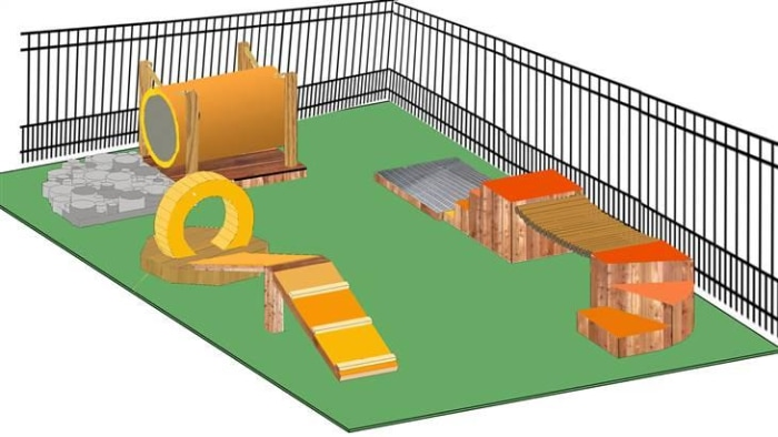 Dog Backyard Playground Ideas : Love Wranglers new plaza play space? Property Brothers share h