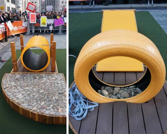 Dog Backyard Playground Equipment : Love Wranglers new plaza play space? Property Brothers share h
