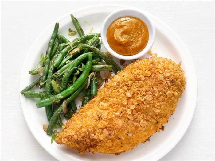 This quick, healthy oven-fried chicken recipe is a real crowd pleaser ...