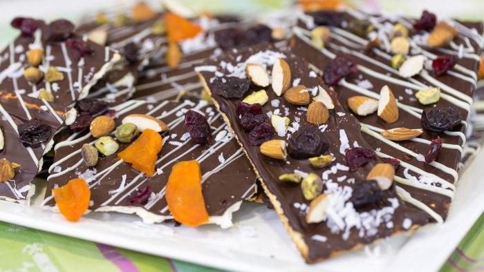 Chocolate Covered Matzo Bark