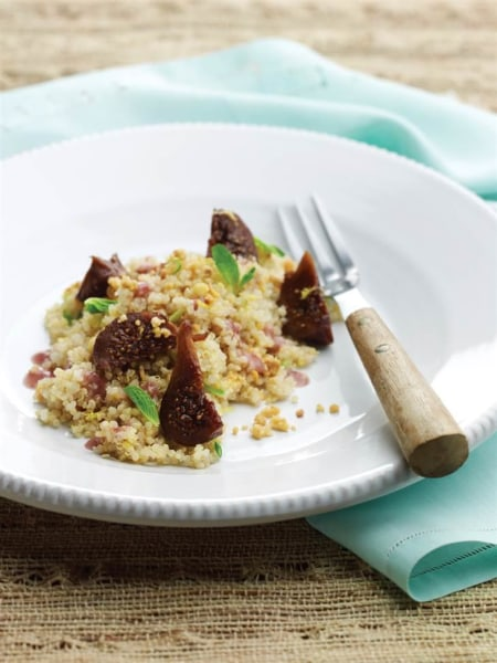 Quinoa Salad with Figs and Mint