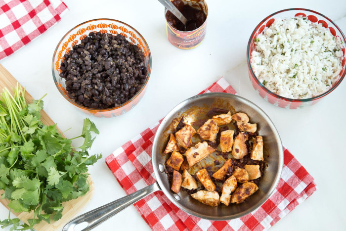 Make-Ahead Chipotle-Style Burrito Bowl (prep)