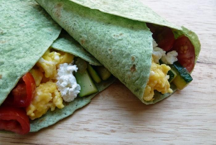 Grilled chicken breakfast burrito recipe