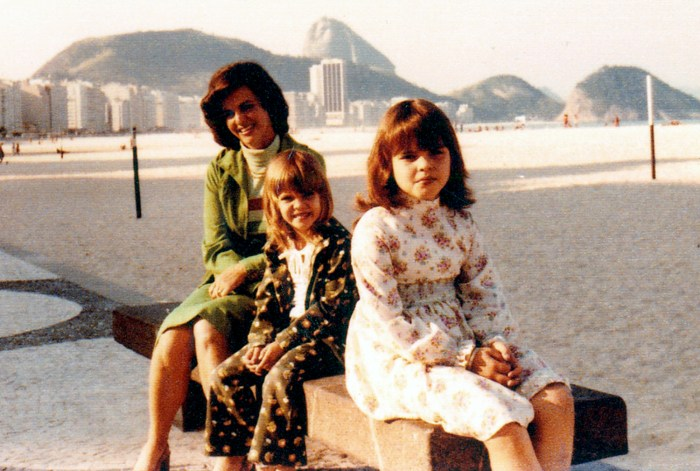 Natalie Morales with her mother in childhood.