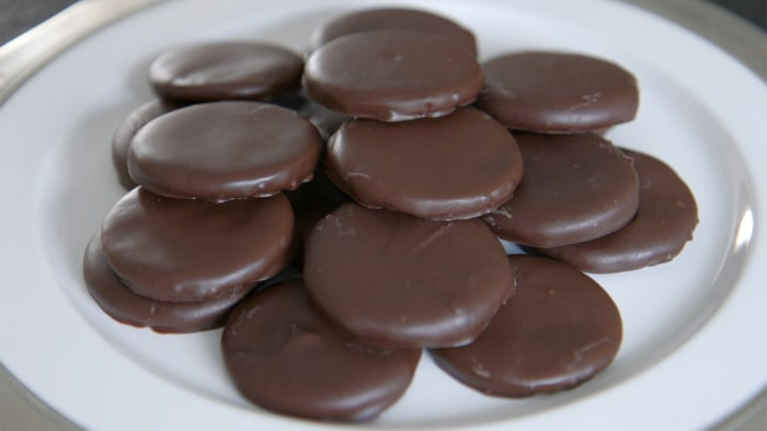Homemade gluten-free Thin Mints