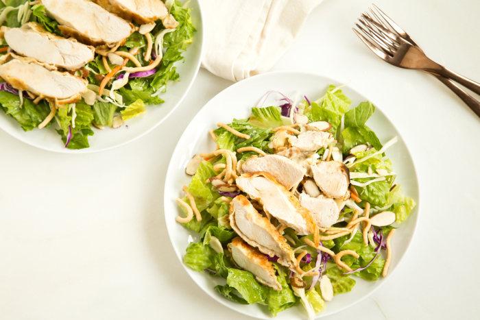 Asian chicken salad recipe inspired by Applebee's Oriental Chicken Salad