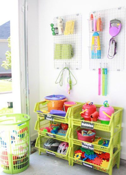 Pinterest Inspired Diy Ideas For Organizing Outdoor Toys