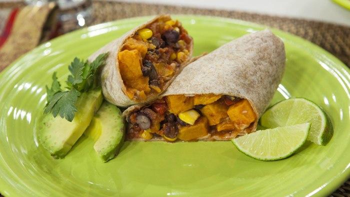 Al Roker shares his recipe for a sweet potato burrito.