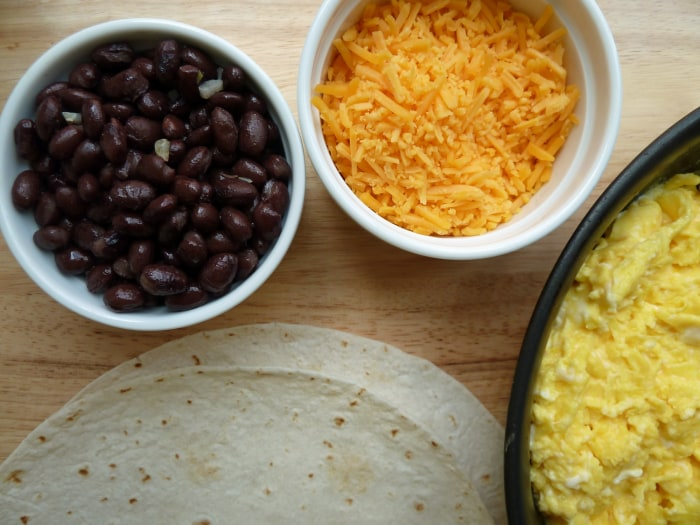 Freezer breakfast burrito ingredients