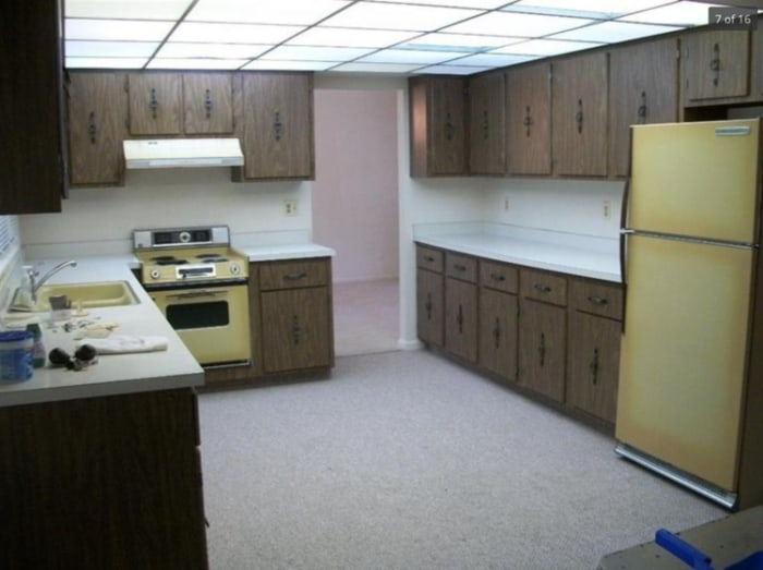 Kitchen makeover: See what this dated kitchen looks like ...