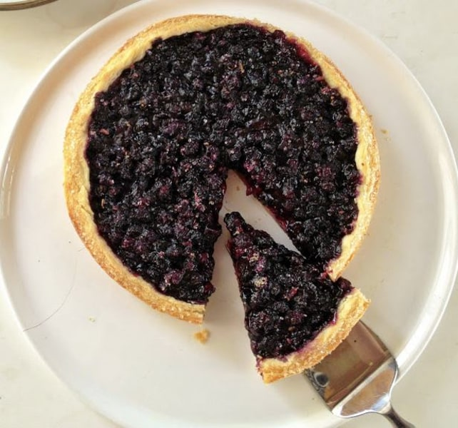 Freeform blueberry pie