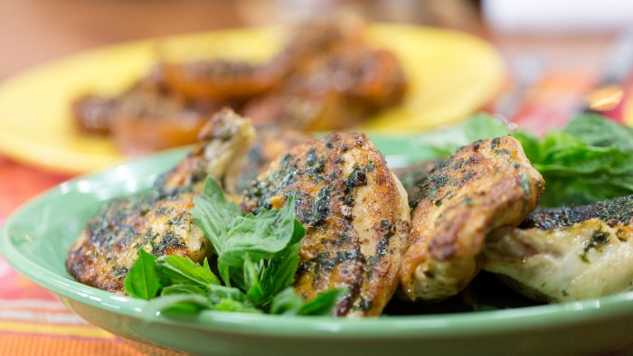 Al Roker and Pitmaster Chris Lilly grill chicken and sweet potatoes