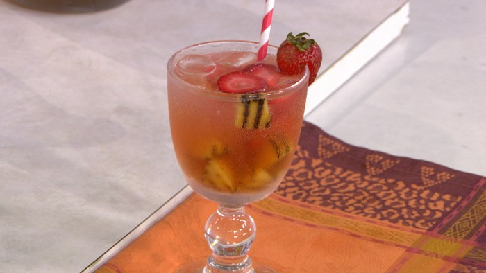 Try Camila Alves' sangria with grilled peaches and grilled pineapple ...