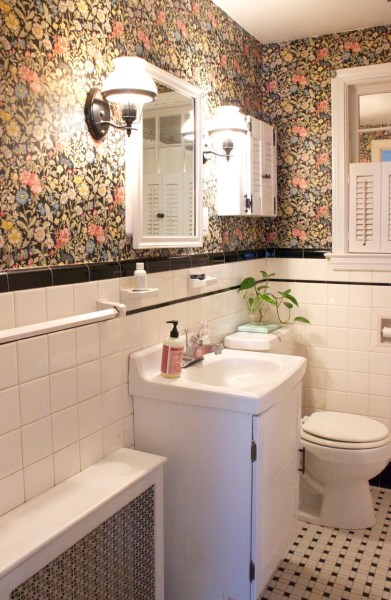 Bathroom Looks diy: see what this retro bathroom looks like after a $200 makeover