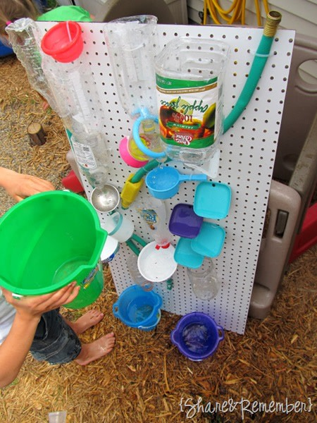 Diy water games to make for kids for Diy water wall