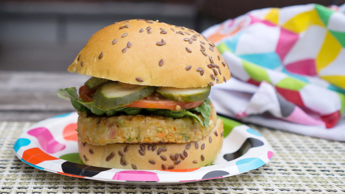 Multigrain veggie burger