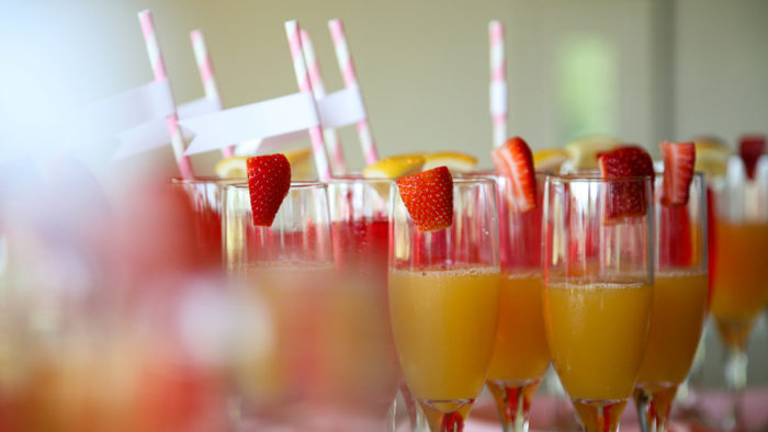 Champagne mimosa cocktail