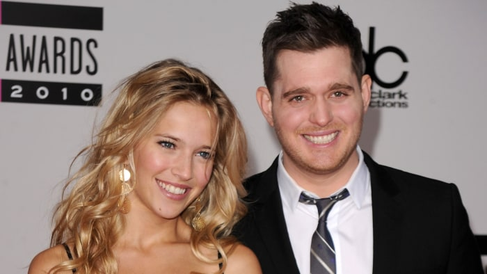 Michael Bublé welcomes second son, Elias, with wife ... Emily Blunt Sing