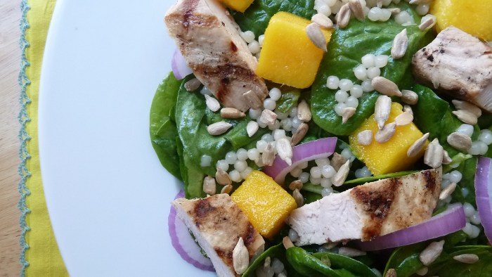 Mango And Grilled Chicken Couscous Salad
