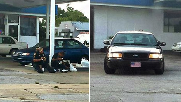Florida police officer eats with homeless man in photo that went viral