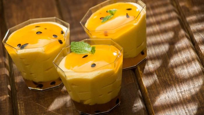 Passion fruit mousse