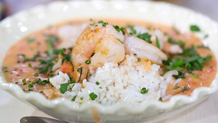 Brazilian seafood dish Bobo de camarao