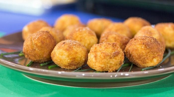 Brazilian salt cod fritters