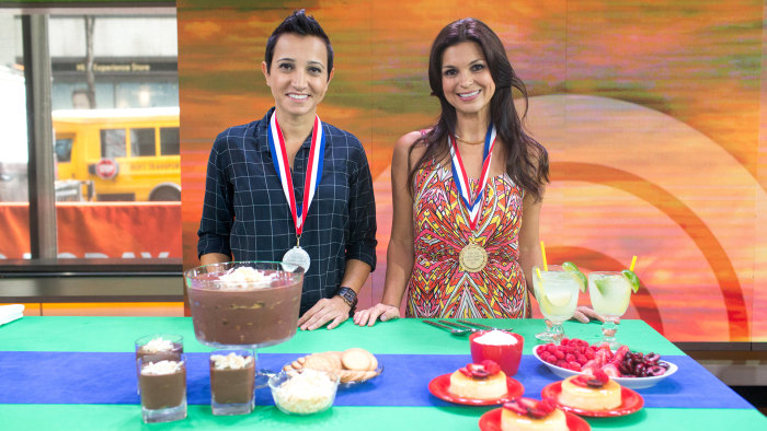 Brazilian flan versus chocolate pave