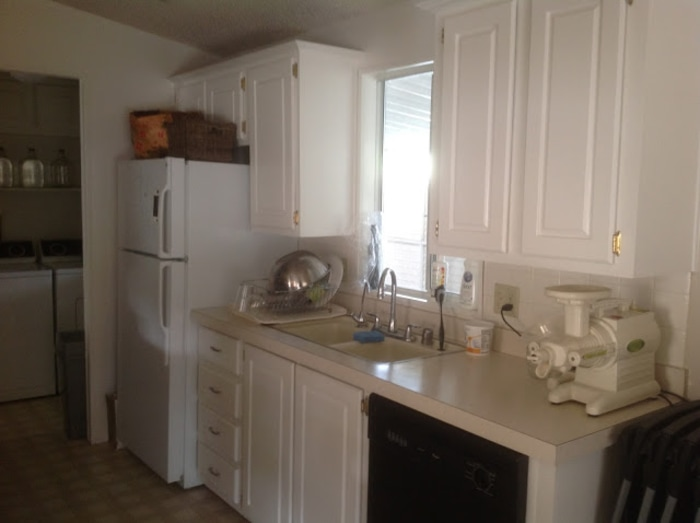 Before and after pics mobile home remodel take it from for Mobile home kitchens pictures