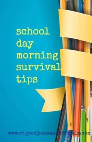 School day morning survival art