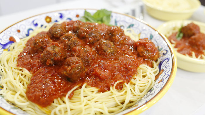 Homemade meatballs by Donatella Arpaia