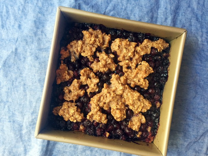 These healthy blueberry oat bars are a great low-sugar treat