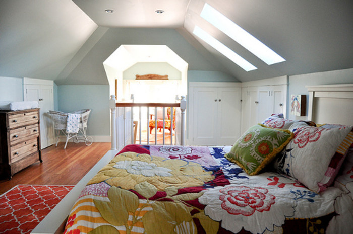 Before and after pics See this dreary attic turned into a – Attic Master Bedroom