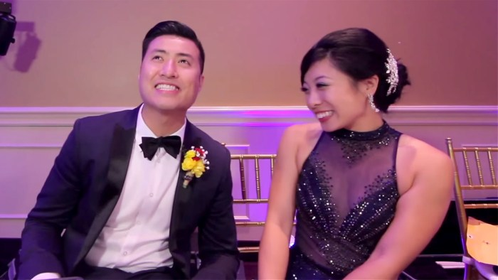 Couple makes most epic wedding video ever 250 guests 1 take