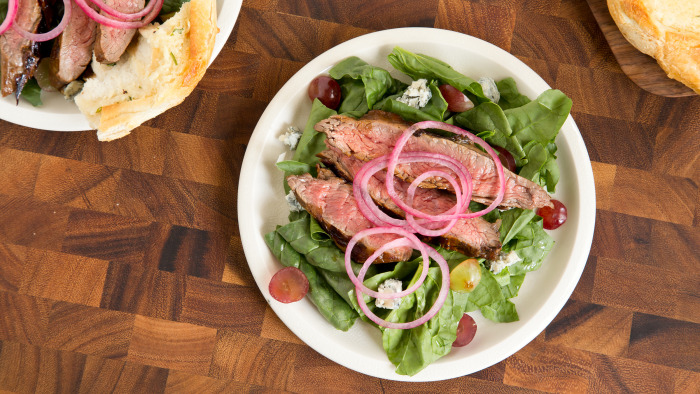 Balsamic Blue-Cheese Steak Salad recipe
