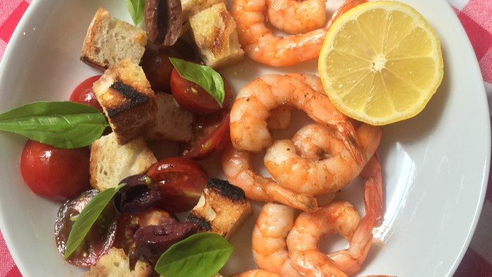 Grilled Shrimp Panzanella