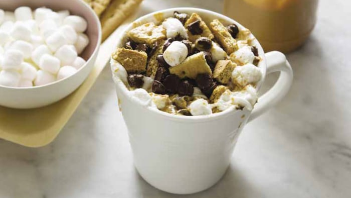 Peanut Butter S'Mores in a mug