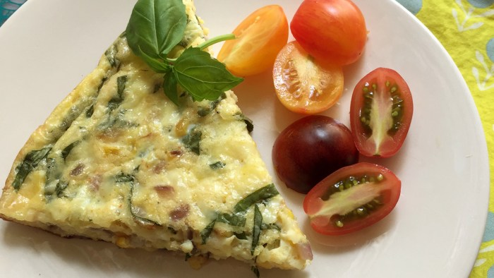 Corn and Basil Frittata recipe