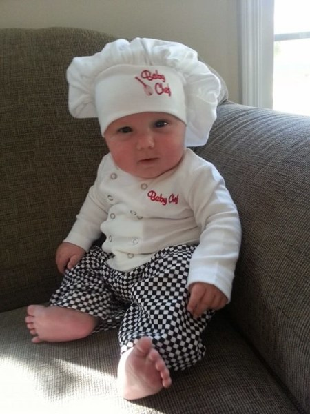 Baby chef Halloween costume