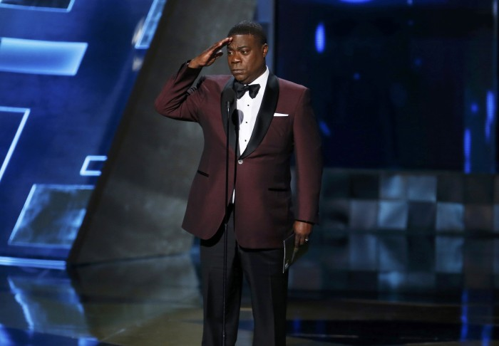 Image: Tracy Morgan presents the Outstanding Drama Series award during the 67th Primetime Emmy Awards in Los Angeles