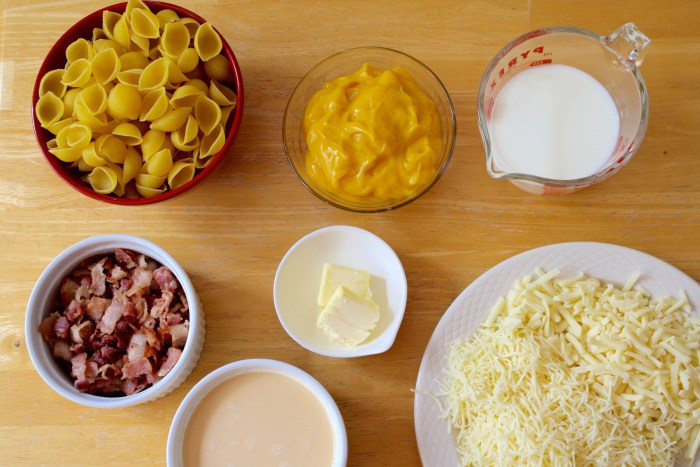 Slow-Cooker Bacon Mac and Cheese Ingredients