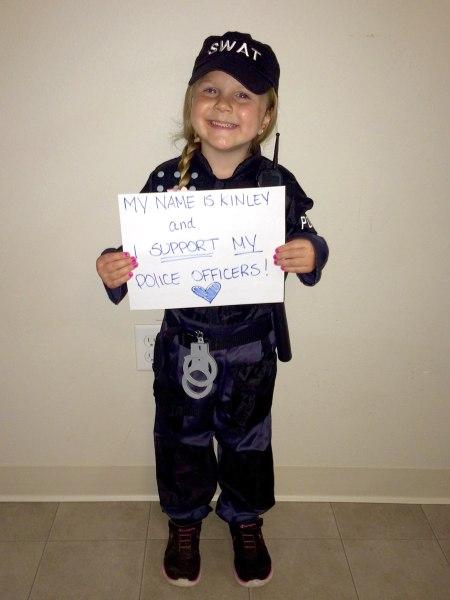 Little girl\'s police officer Halloween costume sparks ...