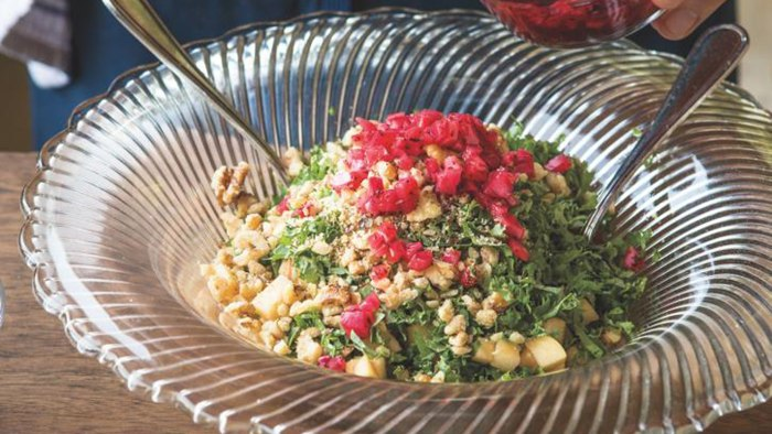 Kale, Apple and Onion Tabbouleh