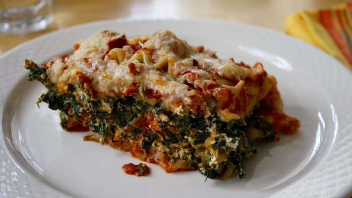 Slow-Cooker Spinach Lasagna recipe